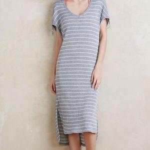Anthropologie | Blue Striped Midi Dress